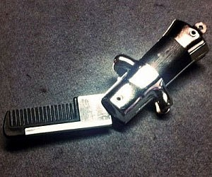 Switchblade Mustache Comb