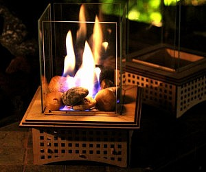 Tabletop Glass Fireplace