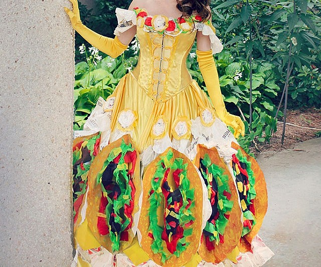 Taco Belle Dress Beauty And The Beast Belle Pink Dress