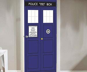 doctor who tardis door cling