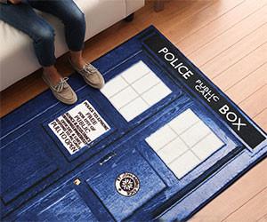 Incroyable Doctor Who TARDIS Rug