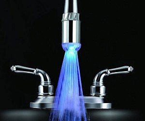 Temperature Sensitive LED Faucet Light