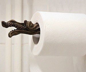 gold flake toilet paper. Tentacle Toilet Paper Roll Holder Gold