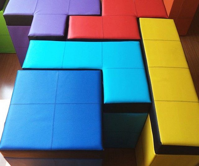 Delightful Tetris Shaped Storage Benches