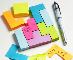 Tetris Shaped Sticky Notes