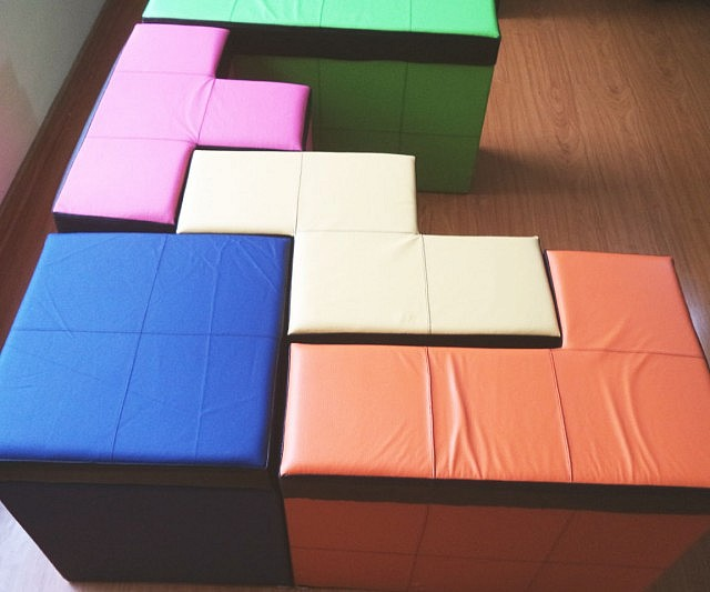 Tetris Shaped Storage Benches