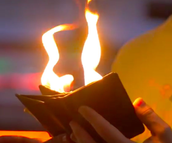 The Fire Wallet Magic Trick