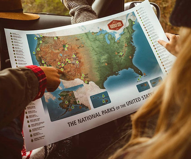 Parks scratch off travel map national parks scratch off travel map sciox Gallery
