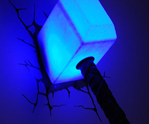 Thor's Hammer Night Light