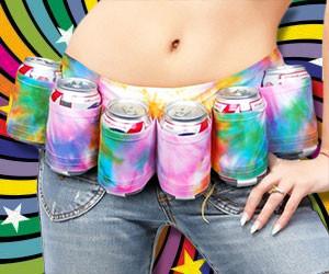 Tie Dye Beer Belt