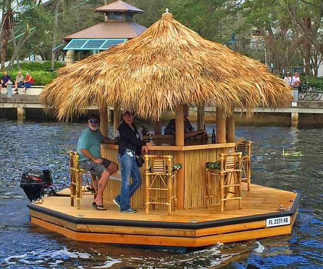 Tiki bar boat for Party boat fishing near me