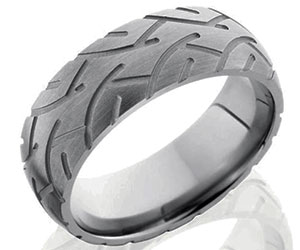 Square Mens Wedding Ring