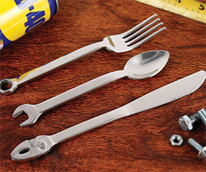 Wrench Eating Utensil Set