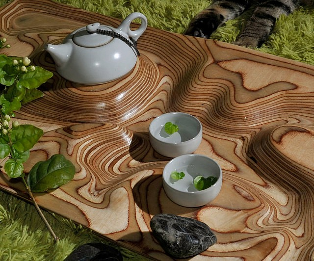 Topographic Tea Table - Topographic coffee table