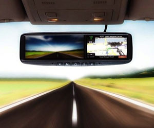 GPS Navigation Rear View Mirror