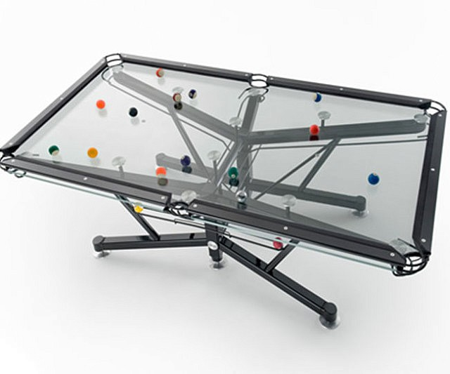 Transparent Pool Table - Clear pool table