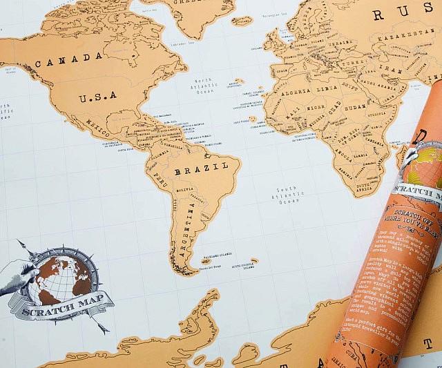 Traveler Scratch Off Map – World Traveler Map Set
