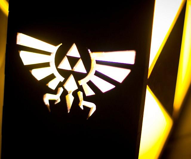 Charming Legend Of Zelda Triforce Lamp