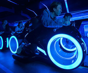 Tron Lightcycle Roller Coaster