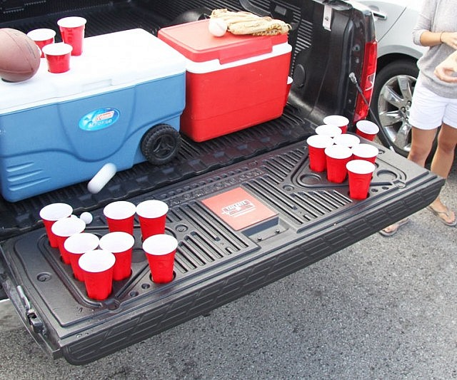bed beer pong table