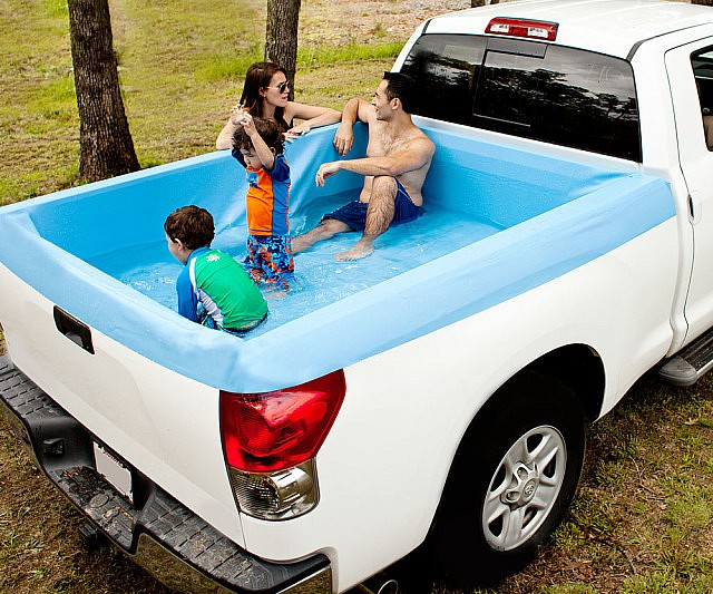 Truck bed water tank 70 gallon toolbox and fuel tank for Swimming pool bed