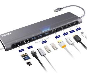 12-In-1 Multi-Port USB Doc...