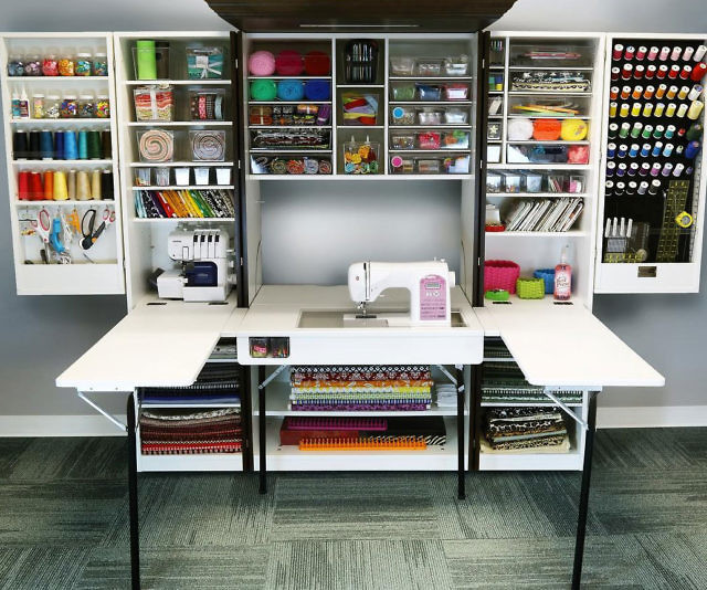 Craft Cabinet Images About Craft Storage On Craft Storage: Crafting Cabinet With Desk