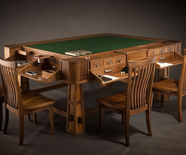 The Sultan Gaming Table Beauteous Wooden Gaming Table