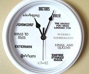 ultimate geek wall clock