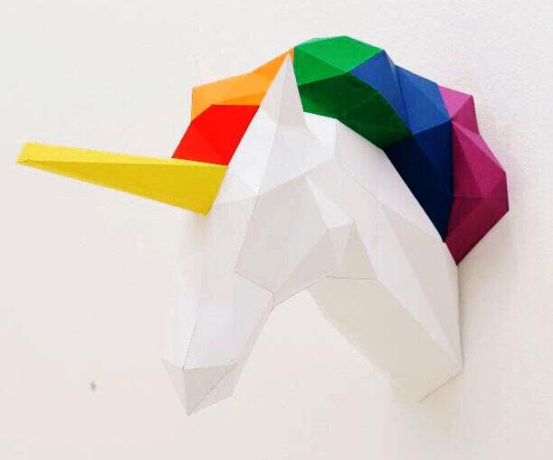Papercraft unicorn head altavistaventures Image collections