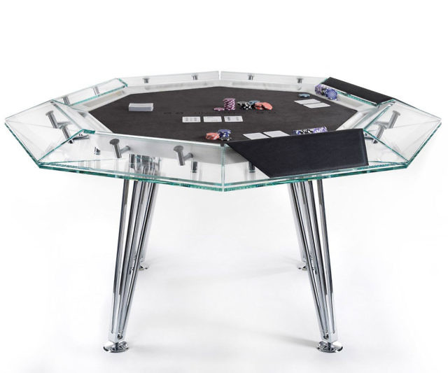 Groovy Eight Player Glass Poker Table Home Remodeling Inspirations Basidirectenergyitoicom