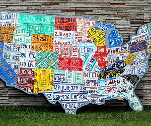License Plate Map Of The USA