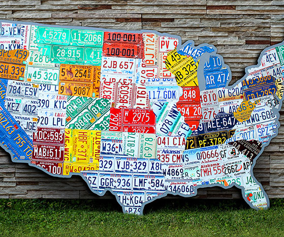 License Plate Map License Plate Map Of The USA