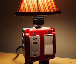 USB Charger Outlet Lamp