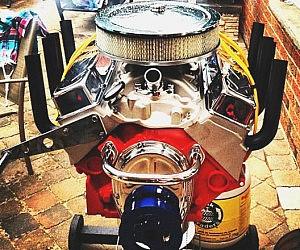 V-8 Engine BBQ Grill