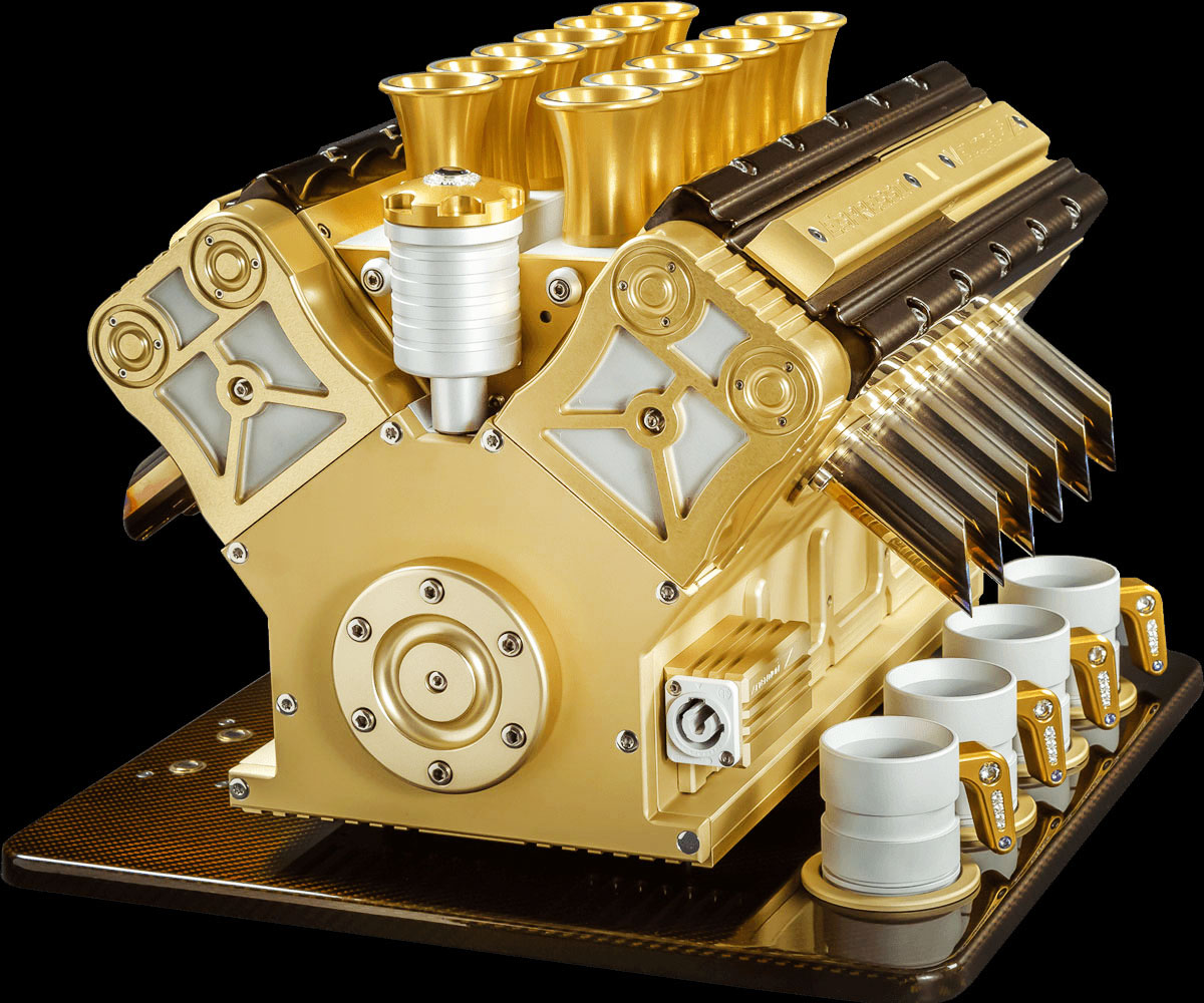 V12 Engine Espresso Machine
