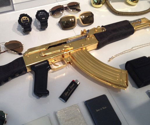 versace gold ak 47 rifle
