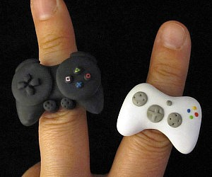 Mini Video Game Controller Rings