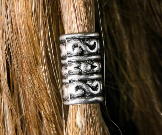 Silver Dwarven Hair Bead