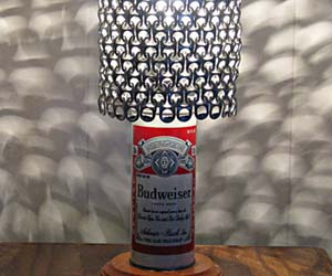 Vintage Beer Can Lamp