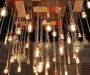 Vintage light bulbs chandelier aloadofball
