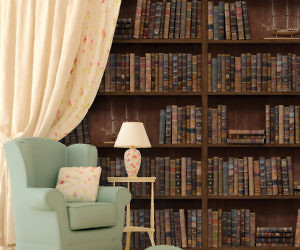 Fresh Vintage Library Wall Adhesive