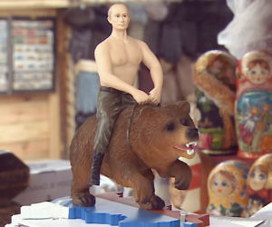 Putin Riding A Bear Action Figure