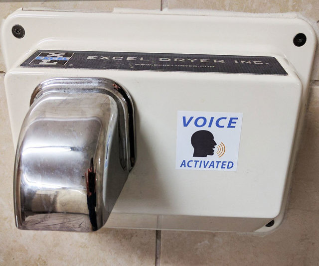 Intimidating voice activated