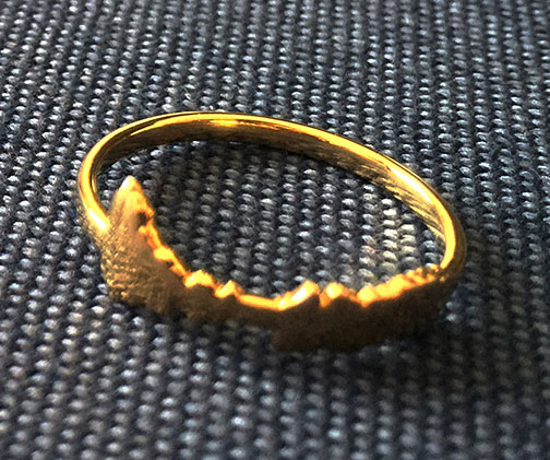 Tire Tread Wedding Band 71 Superb Encoded Voice Wave Rings