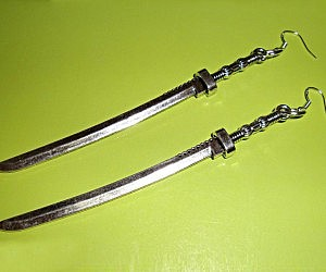 Katana Sword Earrings