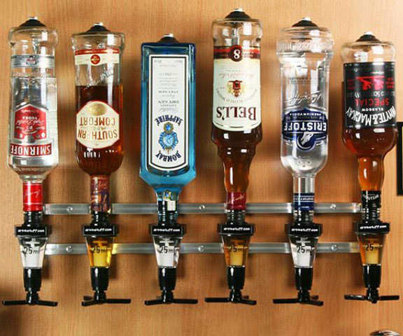 Wooden Alcohol Dispenser Easy Home Decorating Ideas