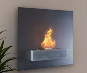 Simple Wall Mounted Fireplace