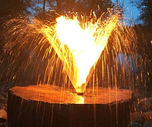Water Fountain Fire Pit