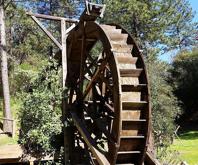 full scale water wheel